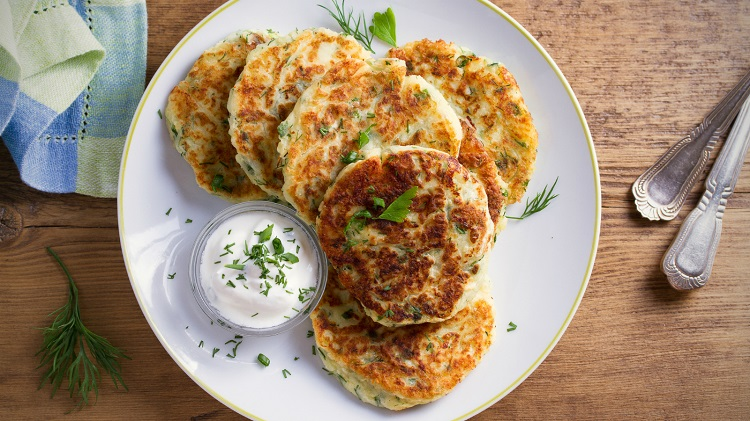 Crispy Fried Potato Cakes