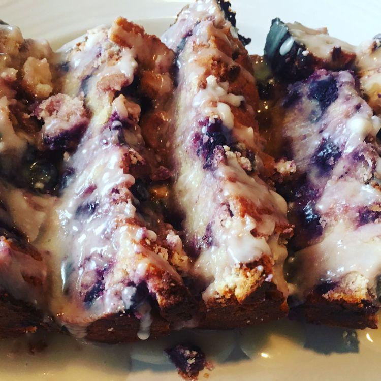 Lemon Glazed Blueberry Bread